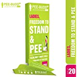 Peebuddy - Ladies Freedom to Stand and Pee Paper Based Disposable Female Urination Device for Women - 20 Funnels