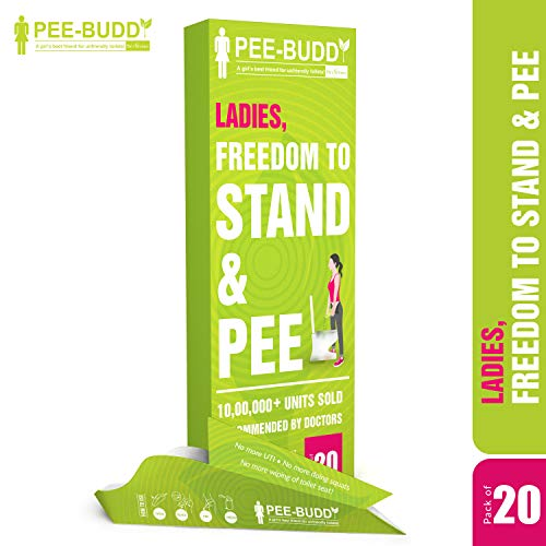 Portable Female Urination Device, Now Stand and Pee | Women's Lightweight Disposable Travel Camping Urinal | for use in Toilets at Highways, Trains, Treks, Marathons, Road Trips (20)