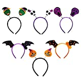 OULII Halloween Stirnband Schädel Schläger Kürbis Haarband Kopfschmuck für Kinder Halloween Kostüm Party Dekoration Pack 6pcs