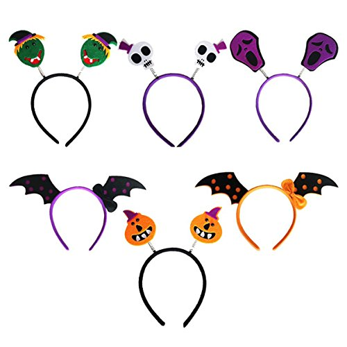 nband Schädel Schläger Kürbis Haarband Kopfschmuck für Kinder Halloween Kostüm Party Dekoration Pack 6pcs (Halloween-kürbis-kostüme Für Kinder)