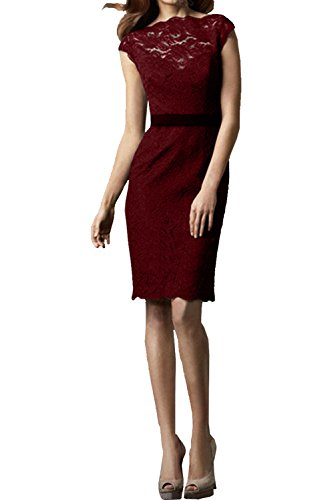 Ivydressing - Robe - Crayon - Femme rouge bordeaux