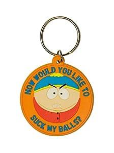 Pyramid International rk38194-South Park Cartman Llavero de Goma-Suck My Balls 6cm