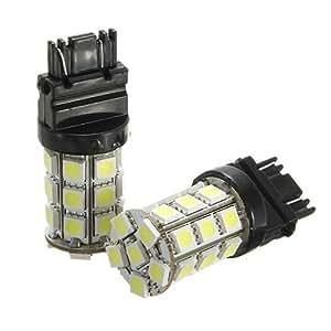 2x T25 W21/5W 3157 3156 7443 5050 SMD 27 LED AMPOULE Lampe Spot ROUGE pour VOITURE 6000k