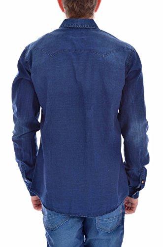 """Scotch soda & chemise pour homme sticker autocollant """"j'aime"""" en allemand Bleu - Bleu"""