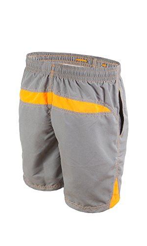 gWINNER ® Short de bain - Homme - BEN Gris/Orange