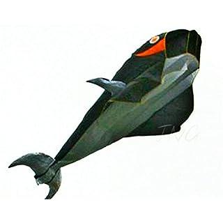 Amazona's presentz Happy Whale - Wal Monofil Parafoil Drachen , ohne Zusammenbau in Walfischform Geschenkidee Spielzeug für Draußen