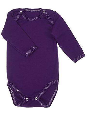 Bodysuit Vests Long Sleeved Baby Girls Boys Plain Colours 100%