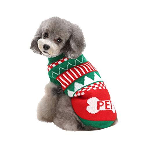 Kostüm Schildkröte Katze - Amphia - Haustierhund hohe Briefpullover,Haustier-Hundekatze-Winter-Schildkröten-Hals-Buchstabe-Strickjacke-Mantel-Kostüm-Kleid