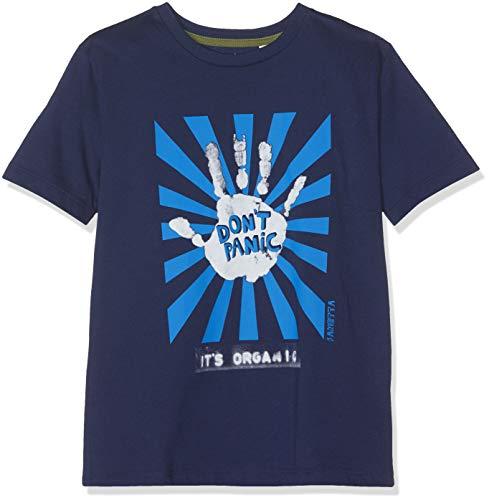 Sanetta Jungen T-Shirt, Blau (Moon Blue 5866), 128 -