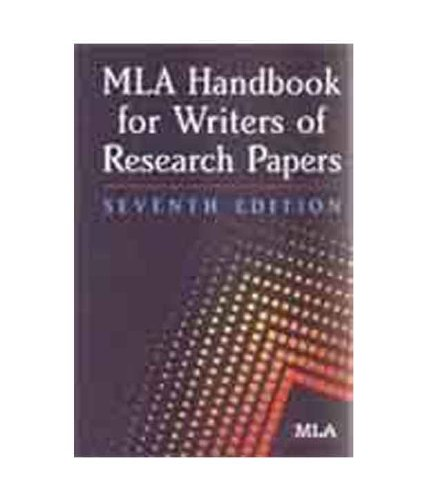 mla handbook for the writers of research papers Mla handbook for writers of research papers: citation guide library instructional services mississippi state university libraries http://librarymsstateedu/li.