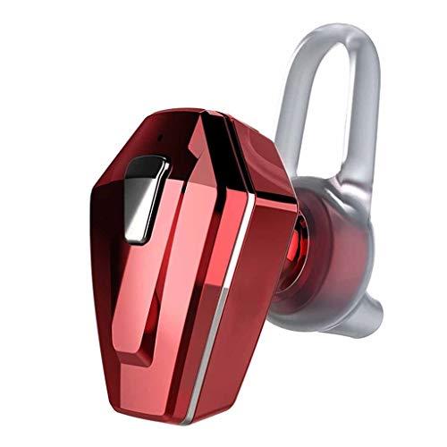 Mini Wireless-Ohrhörer einzeln, Bluetooth 4.1 Ultralight Invisible In Ear Kopfhörer, Auto-Headset mit Mikrofon, für iPhone und Android-Smartphones (Color : Red)