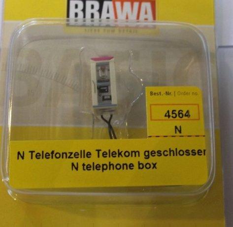 Preisvergleich Produktbild Brawa 4564 N Telefonzelle Telekom geschlossen