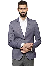 Van Heusen Men's Notch LapelSlim Fit Blazer(VHBZFULFY87162_Blue_44)