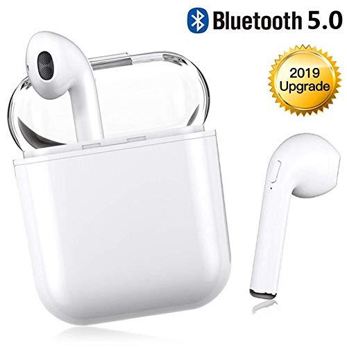 Bluetooth Kopfhörer V5.0 kopfhörer kabellos in Ear Headset Stereo-Minikopfhörer Sport Wasserdicht mit Ladekästchen und Integriertem Mikrofon für iPhone Android Samsung Huawei HTC