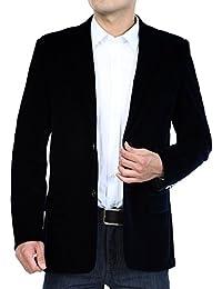 BiSHE Hommes Velours côtelé Blazer Manteau Smart Formelle Dîner Coton  Costumes Veste Hommes 11c6ceaabde
