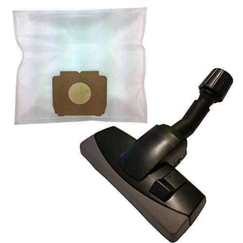 20 Sacchetti in tessuto non tessuto + spostamento bare universal con ugello mobili protezione per AEG/AEG-ELECTROLUX CE Mr, Big