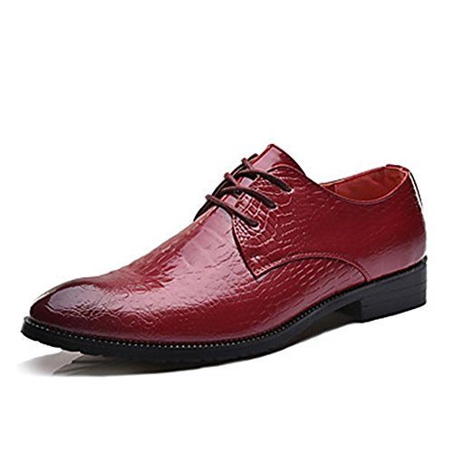 WZW-Mens-Oxfords-Clogs-Mules-Spring-Fall-PU-Wedding-Outdoor-Office-Career-Casual-Party-Evening-Flat-Heel-Lace-up-Others-Black-Blue-Red