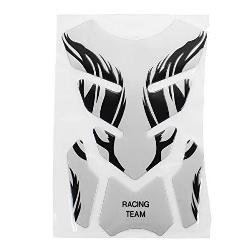 D Motorcycle Tank Pad Decal Protector Cover Sticker Für Honda/Yamaha/Suzuki - Silber ()