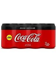 Coca Cola Zero refresco sin azúcar - 12 Latas de ...