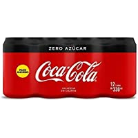 Coca Cola Zero refresco sin azúcar - 12 Latas de 33 cl