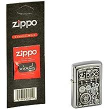 Zippo 2.004.497.1 wheels Mechero de Gear plus de repuesto de la-la mecha, Zippo Collection 2015, funda de almohada de satén de acabado