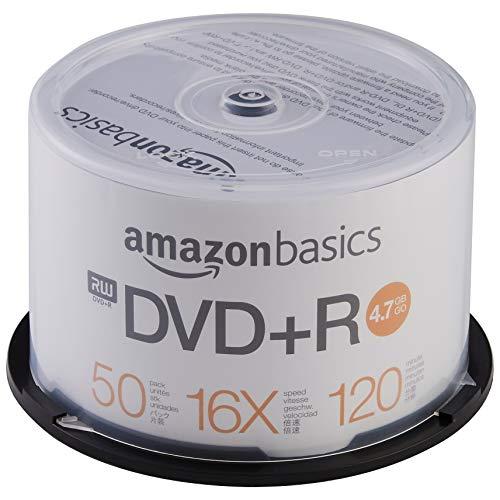 AmazonBasics - DVD+R-Rohlinge, 4,7 GB, 16x, 50er-Spindel