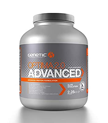 Genetic Optima 2.0 Advanced Strawberry (2.28kg) - Ultimate Muscle Gain Protein Powder - Post-Workout Shake - Anabolic Protein Blend Fuel for Fast Recovery by Genetic Supplements