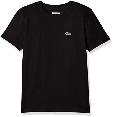 Lacoste Sport Jungen T-Shirt Tj8811, Schwarz (Noir), 10 Jahre (Herstellergröße: 10A)