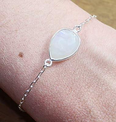 Bracelet Femme Pierre de Lune Argent 925 - Pierre Naturelle - Lithothérapie