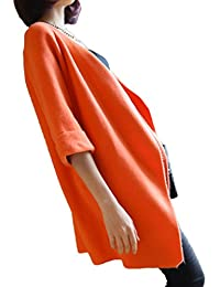 Bigood Chaqueta Mujer de Invierno Mangas 3/4 Suelto