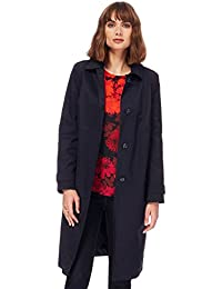 The Collection Womens Navy Single Breasted Mac Coat from Debenhams