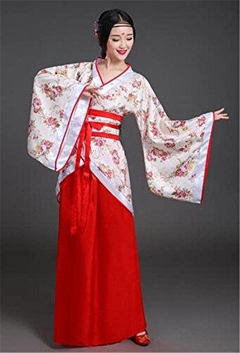 Chinesische klassische Tanz Kostüm / Volkstanz / Bühne Performance Anzug / mehr Farben , flower red , xl