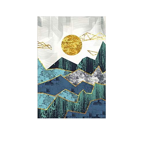 mmwin Kreative abstrakte Linien geometrische Berg Dekoration Malerei Heimtextilien Inkjet Leinwand Q 40 * 60cm