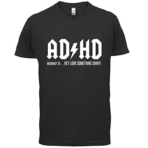 ADHD - Herren T-Shirt - 13 Farben Schwarz
