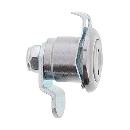 Burg-Wächter Ersatzzylinder für Briefkästen, Hebelschloss, für Materialstärke von 1 bis 2 mm, verchromt, ZBK 71 SB, 1 Stück - 2