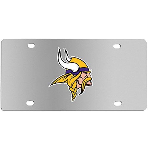 Siskiyou NFL Minnesota Vikings Steel License Plate with Digital Graphics