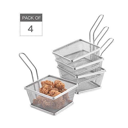 Velaze Cesta Fritos Mini Fritas Set 4 Piezas Acero
