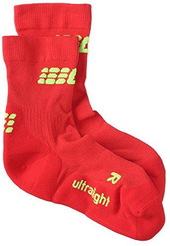 CEP Herren Ultralight Short Socks Kompressionsbekleidung, Rot, 3