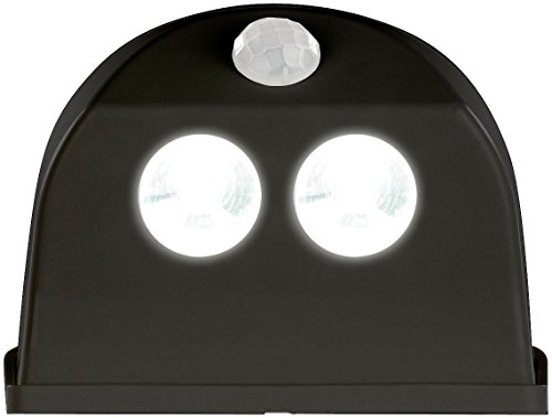 Luminea LED-Aufbau-Lampen: Batterie-LED-Türleuchte, Bewegungs-/Lichtsensor, 0,4 W, 50 lm, schwarz (LED-Tür-Beleuchtung)