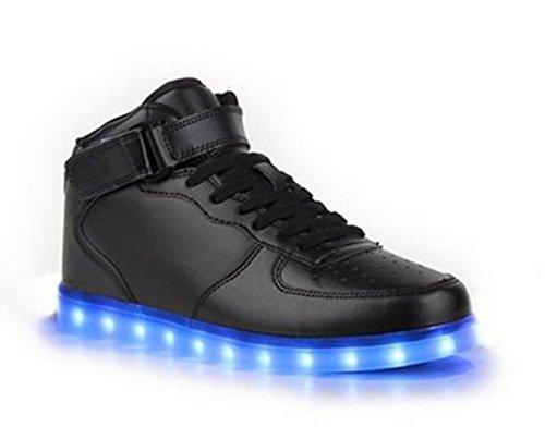 Freizeitschuhe Wechseln Handtuch F Schuhe Sneaker licht Led Leuchtend present Farbe kleines Aufladen junglest® Sportschuhe Outdoorschuhe Schwarz 7 Laufschuhe Mode Usb 5wzzBXxOqT