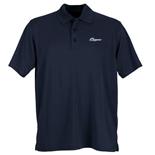 Vantage Apparel Minor League Baseball Columbus Clippers Men's Performance Mesh Polo Shirt, Large, Navy (Clippers Polo)