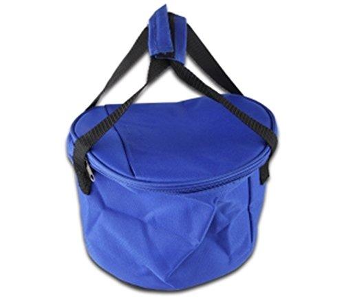 Isoliertasche - Kühltasche - Iso Tasche - Isotasche - mit Schultergurt - 2-Wege Reißverschluss - Blau - Ø 26 / H. 19 cm