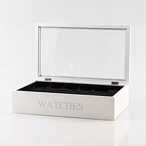 Pajoma 40537 caja Tempus, Madera/Vidrio/tela, 34 x 20,5 cm