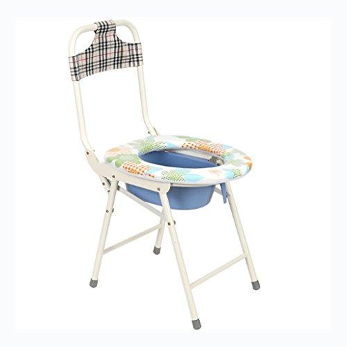 C&L WC-Sitze, tragbare Klappstuhl Senioren Behinderte schwangere Frauen Erwachsene Sitz Stuhl WC Sitz Bad Sitz Hemiplegic Rehabilitation Kommode Stuhl - geeignet für die meisten Menschen mit geringer Mobilität ( größe : 35*31*42cm )