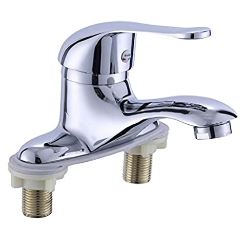 Bathroom Sink Washroom Basin Double hole faucet / Zinc alloy Mixer Tap