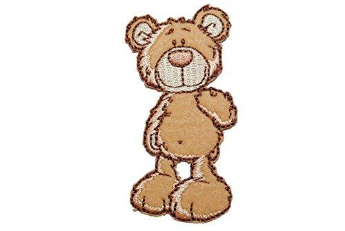 Nici classic Bär 3,9 cm * 7,4 cm Bügelbild Aufnäher Applikation Teddybär Teddy hellbraun Tier Tiere (Teddy Bear Für Mädchen)
