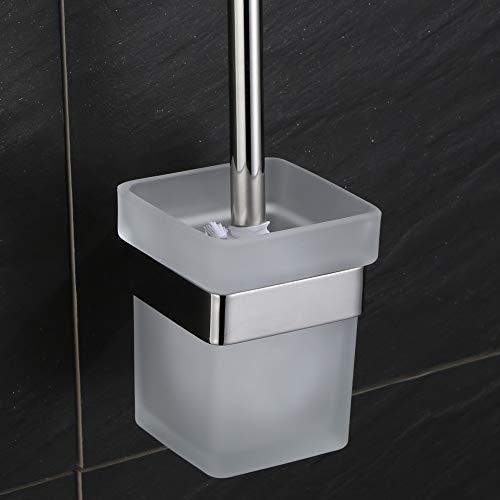 VELIMAX Toilettenbürsten-Set Toilettenbürstenhalter aus SUS304 Edelstahl WC-Garnitur Wandmontage Zeitgenössischer Stil, Poliert