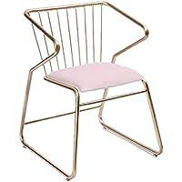 MO XIAO BEI Individuelle Rückenlehne Stuhl Esszimmerstuhl Makeup Hocker Schlafzimmer (Farbe : Pink) preisvergleich bei kinderzimmerdekopreise.eu