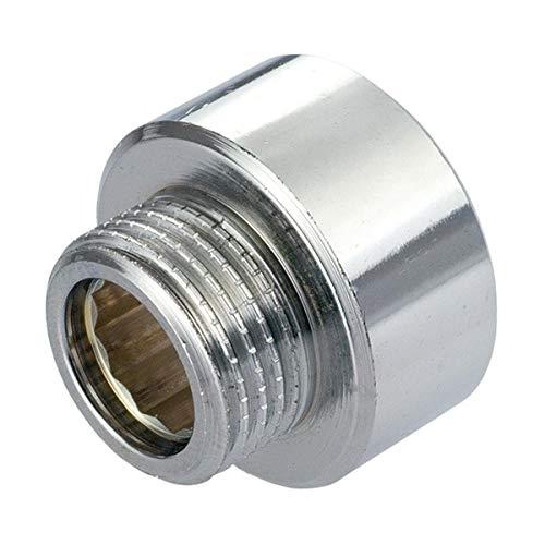 Wasserhahn für Brauseschlauch, 1/2 Zoll x 3/8 Zoll Außengewinde BSP Chrom Rundrohranschluss Brauseschlauch Mischventil, Reduzierstück, Adapter