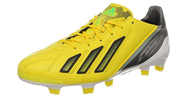 Mens Adidas F50 AdiZero TRX FG Leather Soccer Cleats new, Yellow ...